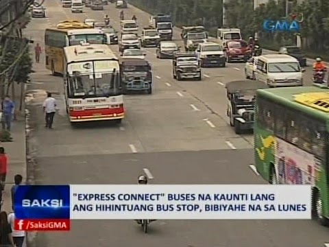 Pilot run of the EDSA 'Express Connect' Bus System