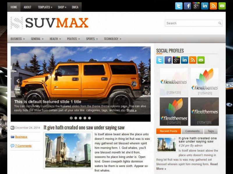 SuvMax - Free Wordpress Theme