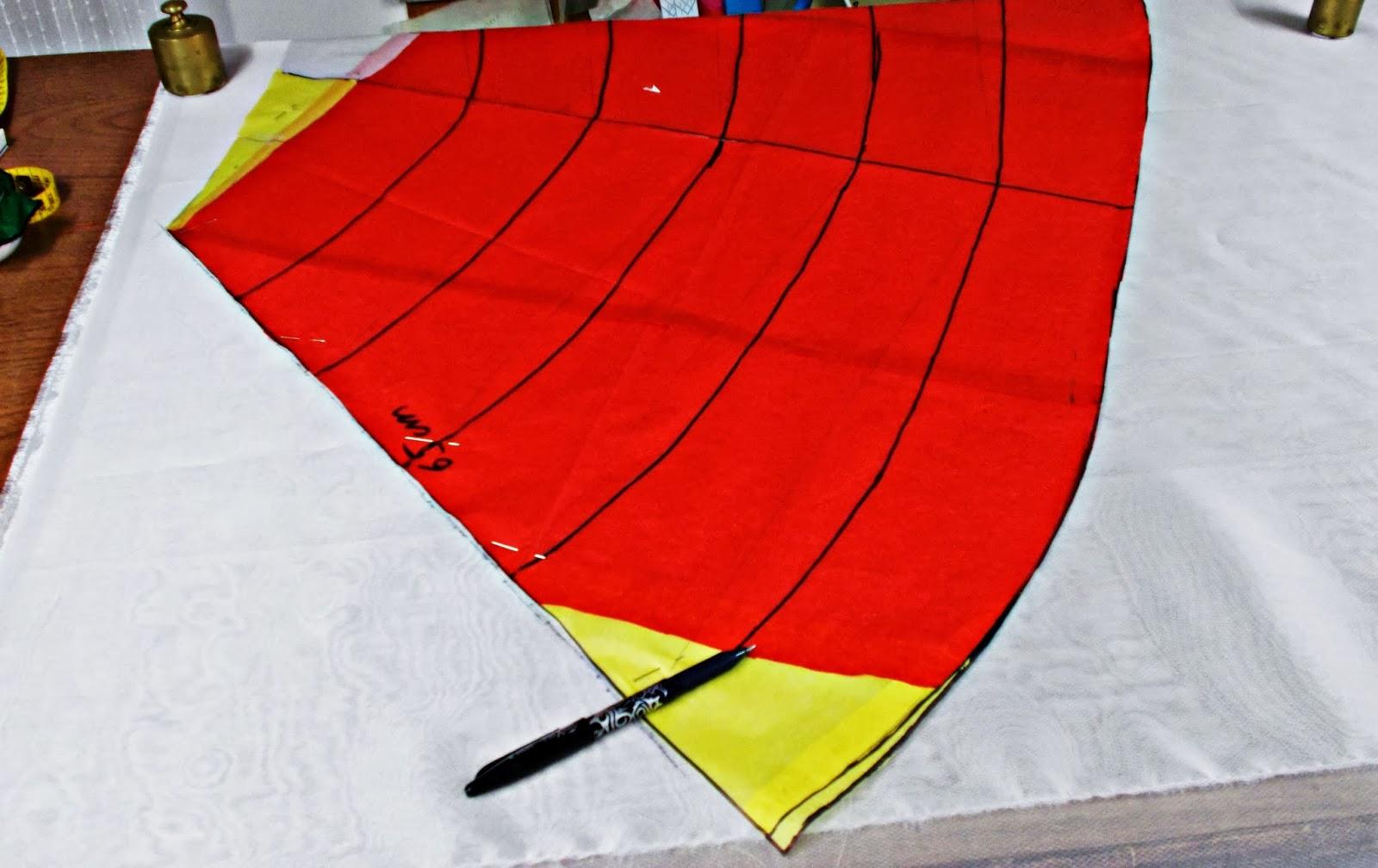 Traje-vestido-flamenca-patrón-paso a paso-costura-volantes-enagua-1