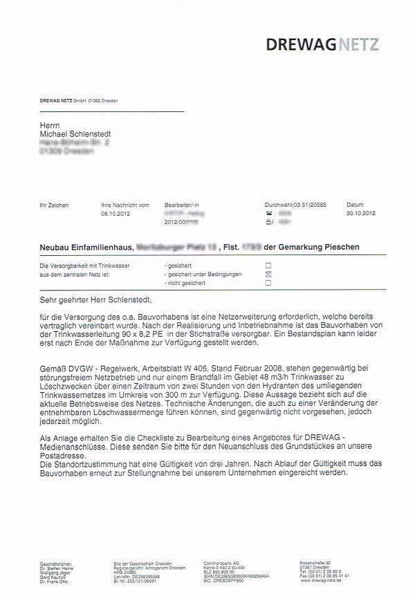 HuM\'s Baublog: Bestätigung DREWAG und Stadtentwässerung für ...