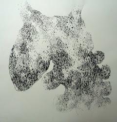 Fusain / papier 50 x 50 2012