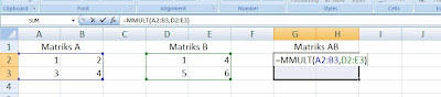 elemen matriks di microsoft excel