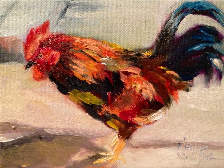 norma wilson art norma wilson original oil rooster chicken hen