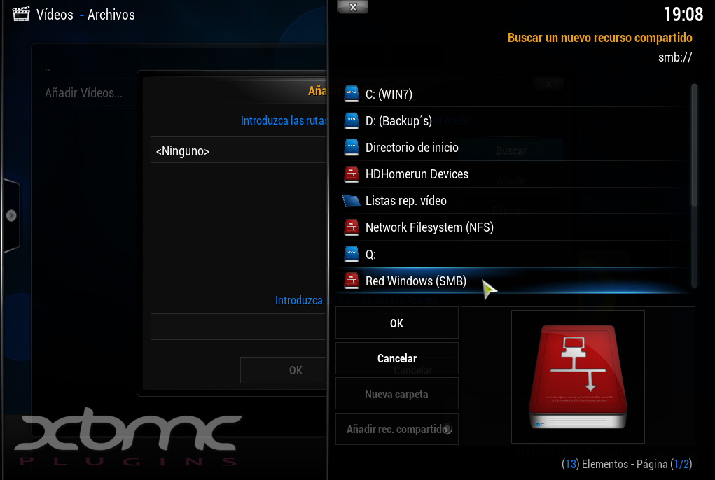 XBMC Red Windows SMB