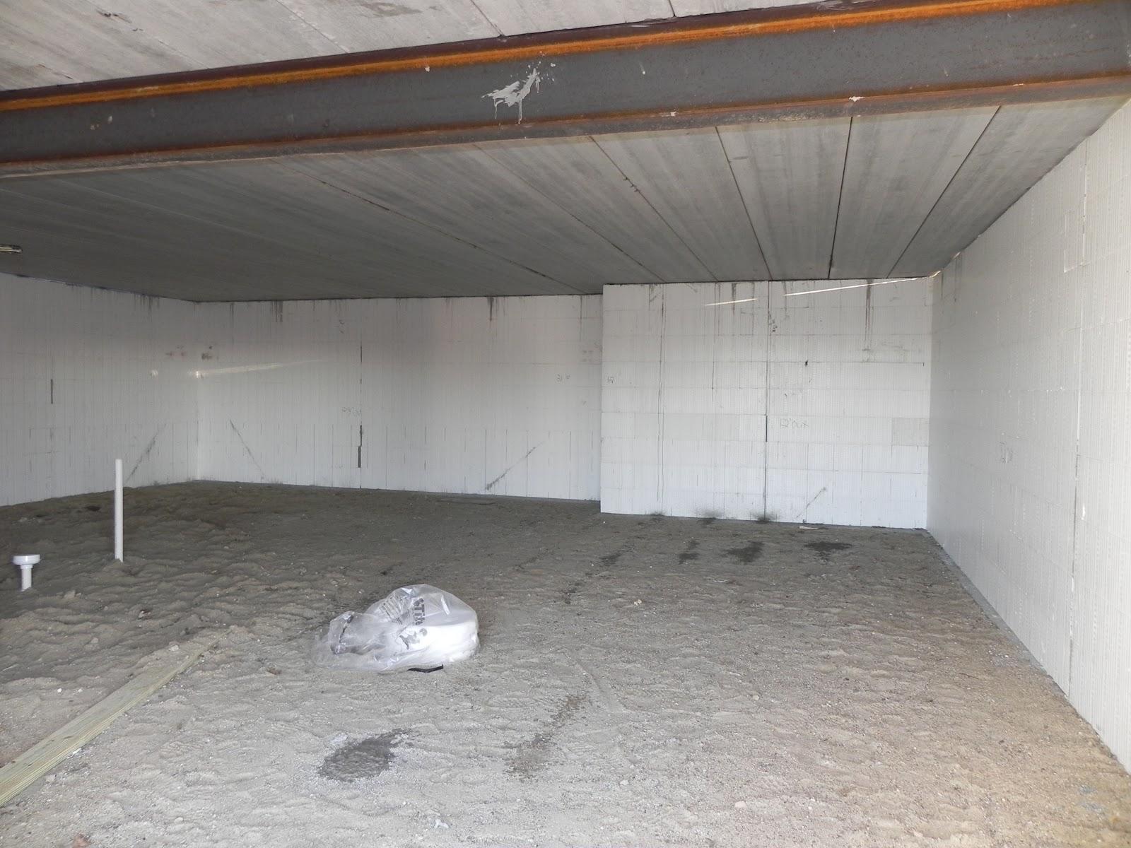 Pre Stressed Concrete Area Under Garage For Music Room