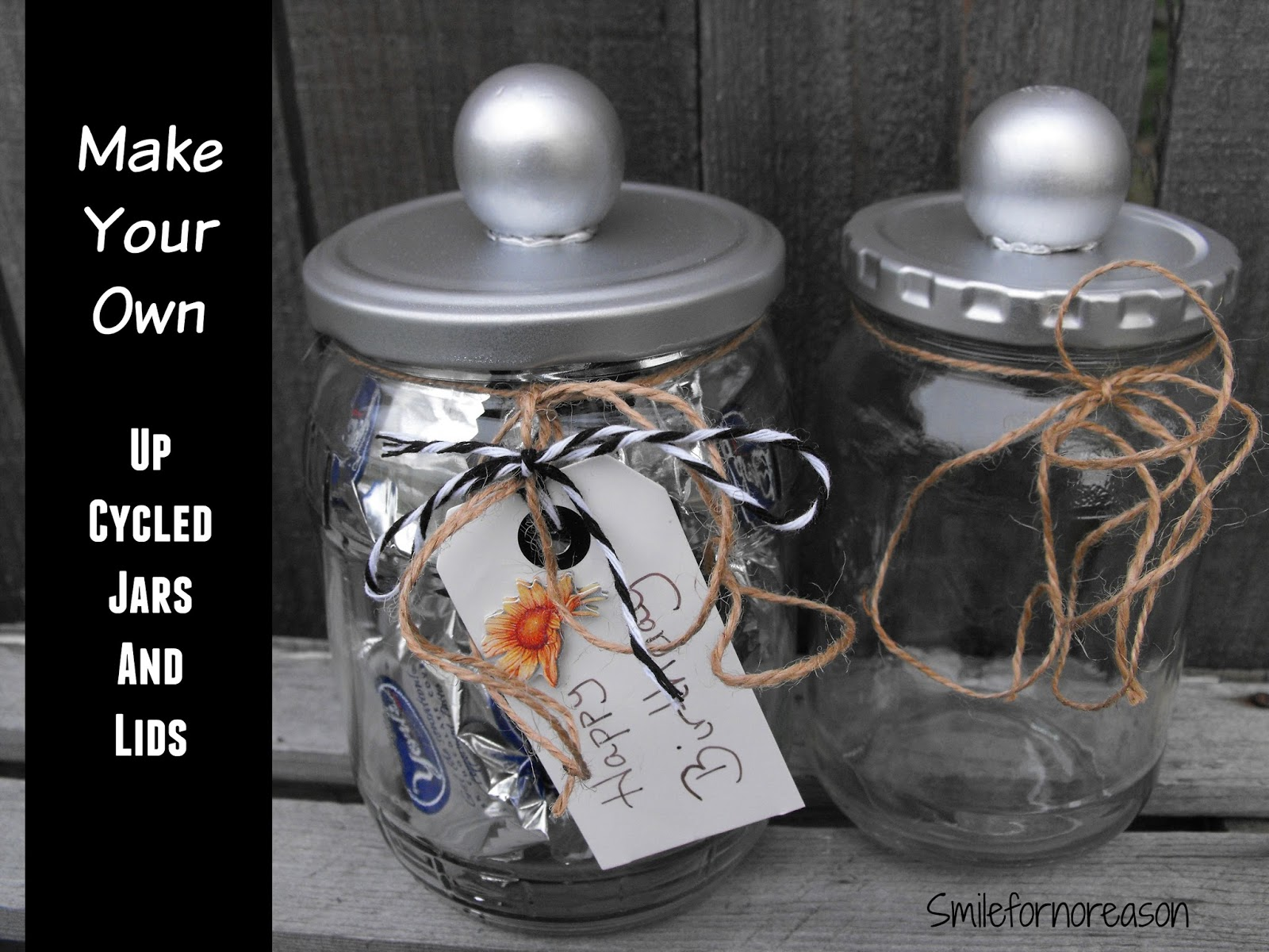 recycled jars to decorative containers - Decorative Jars