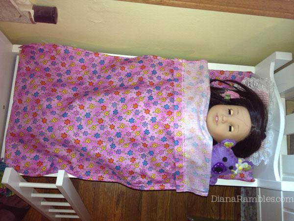 Nice american girl doll bunk bed mattress sheets set