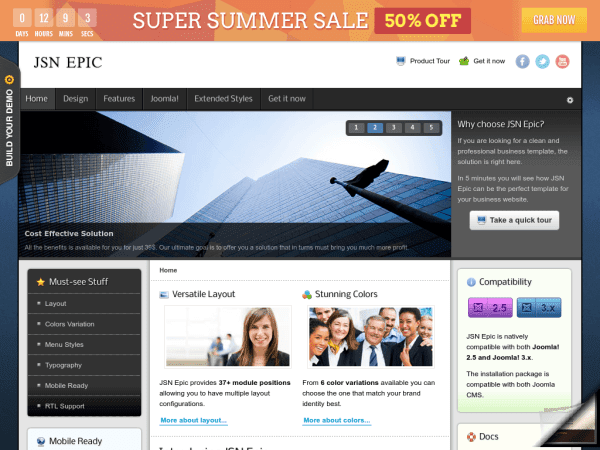 JSN EPIC Joomla Business Templates