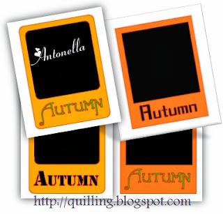 Antonella's Free Autumn Polaroid Frame Studio Cut File