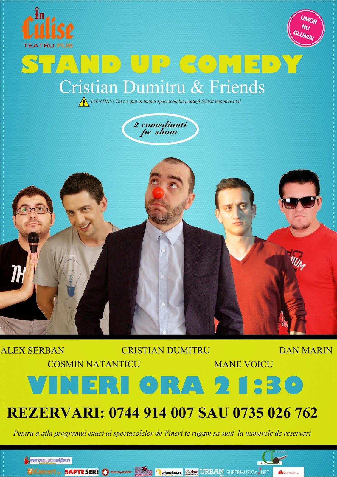 Culise Comedy Club: Stand-Up Comedy Vineri cu Cristian Dumitru