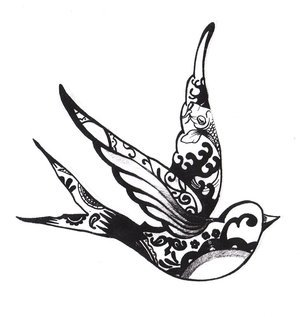 birds tattoos for you sparrow bird tattoo designs. Black Bedroom Furniture Sets. Home Design Ideas
