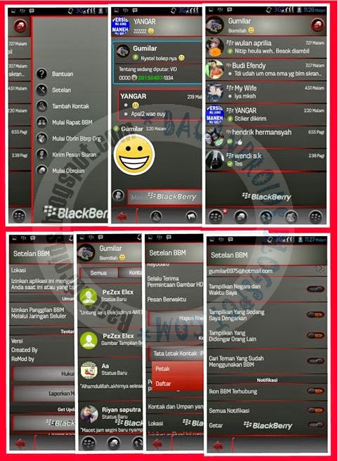download BBM Mod Versi 2.7.0.23 ThinRedLine Custom Background