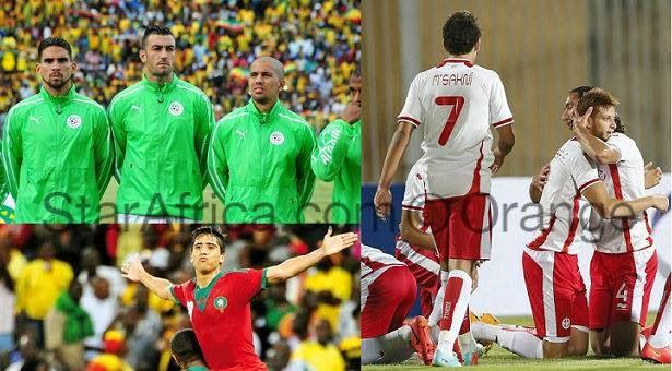 """"""" الفيفا """" تقصي تونس والمغرب والجزائر من منافسات 2015"""