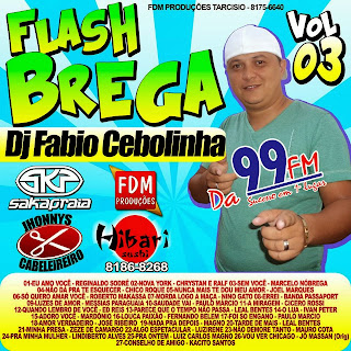 FLASH BREGA VOL 03 ( DJ FABIO CEBOLINHA ) | Cds de