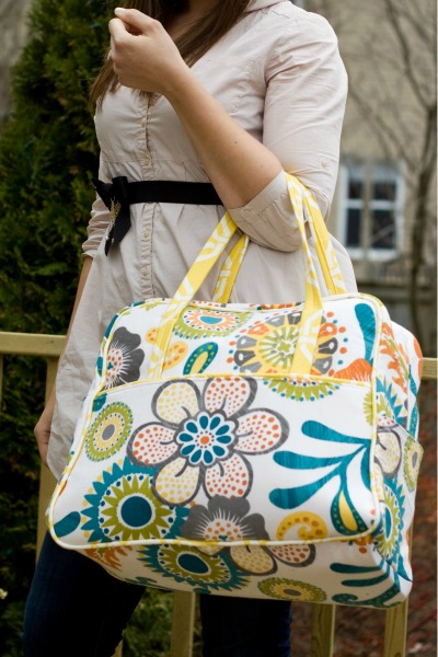 This Was My First Amy Butler Pattern Of Course I Picked The Gest Bag She Has So Excited To See How Does Her Packaging