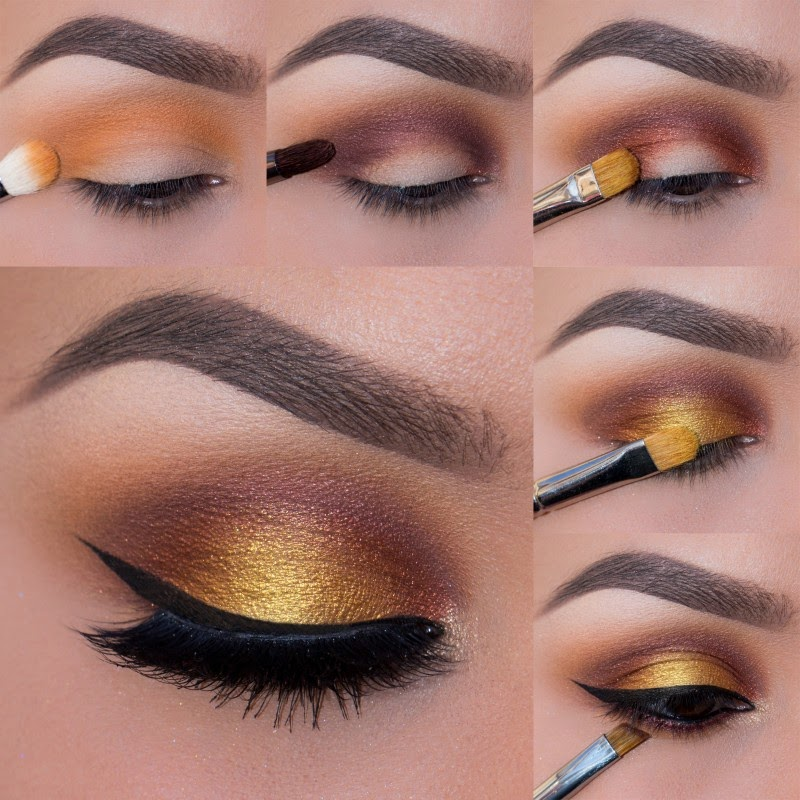 copper gold eyes makeup full tutorial b amp g fashion