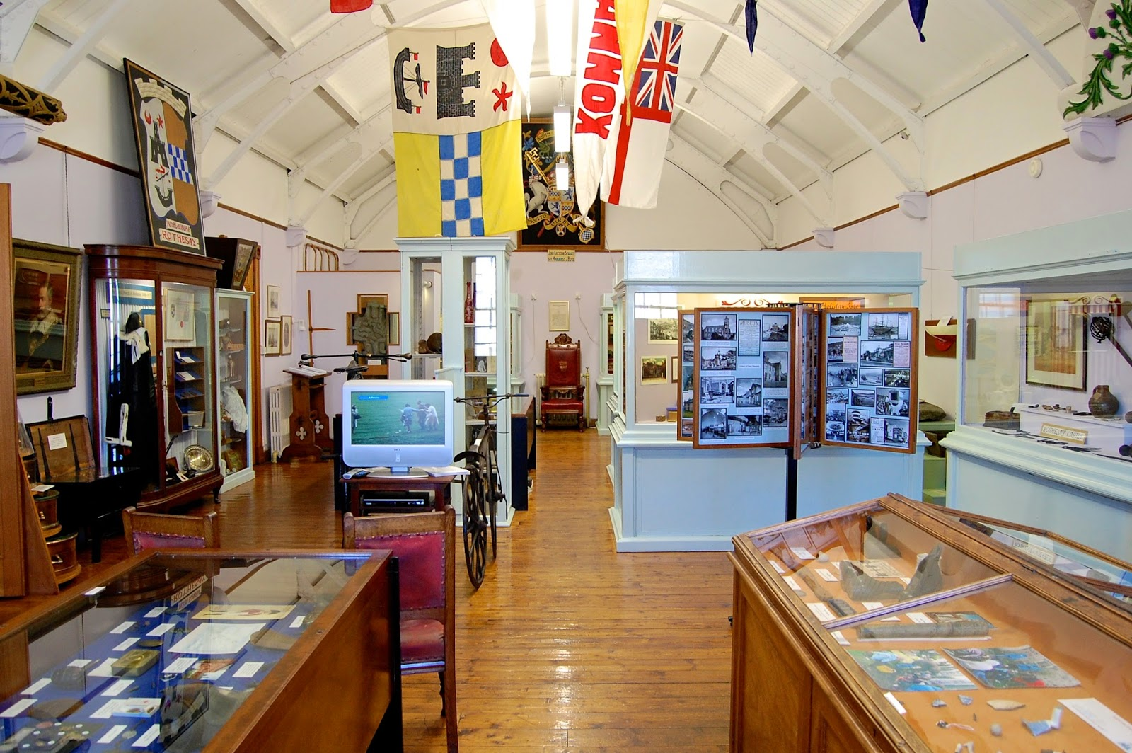 Bute Museum's cabinets of sundry curios