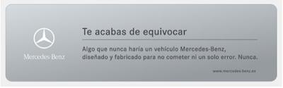Mensaje de error de página encontrada de Mercedes