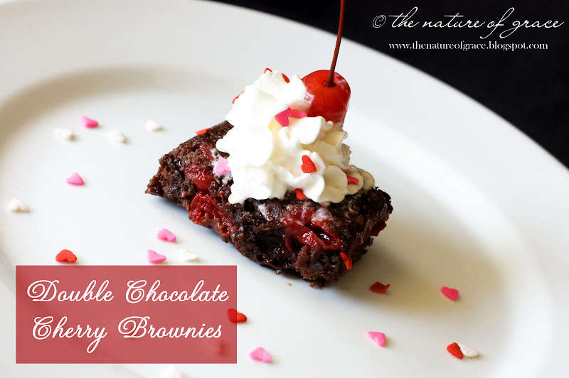 The Nature of Grace: Le Chef Petite: Double Chocolate Cherry Brownies!