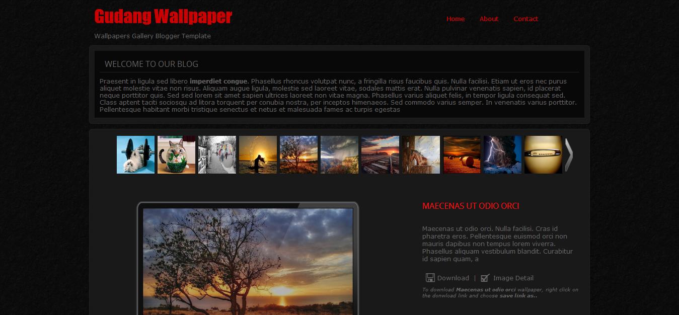 Gudang Wallpaper Blogger Template Cool Blog Templates Premium
