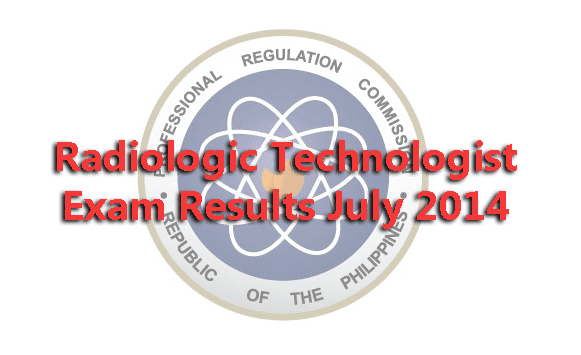 Radiologic Technologist Exam Results July 2014