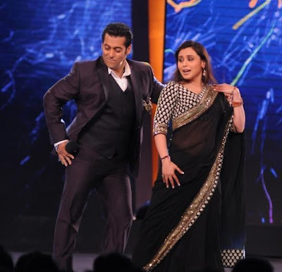 Salman and Rani on Bigg Boss 6 opening episosde