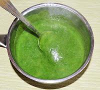 Суп-пюре со шпинатом и щавелем