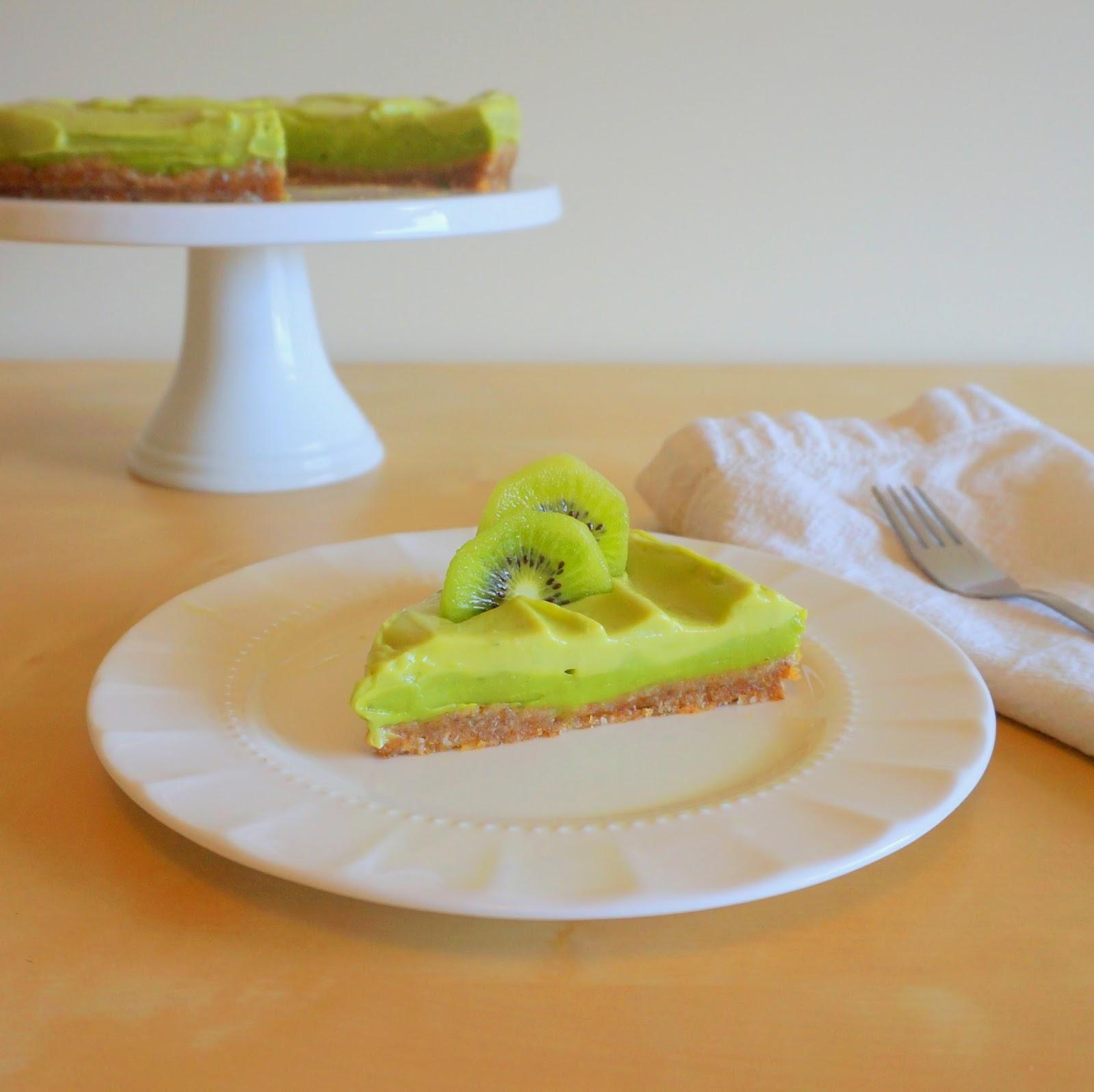creamy lime and avocado pie