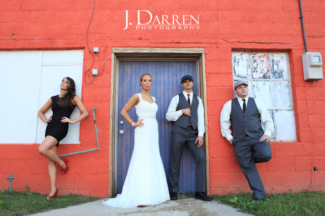 photo of bridal party at a Twelve west main wedding in Thomasville North Carolina