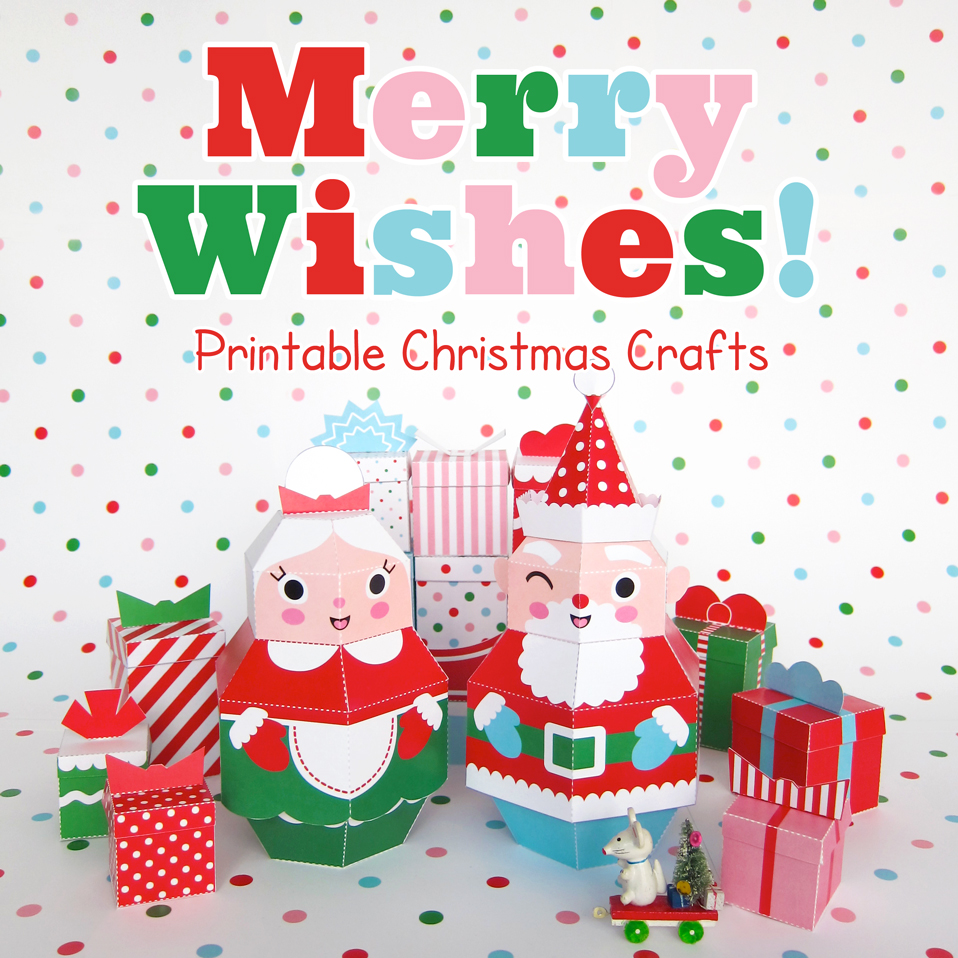 Fantastic toys merry wishes printable christmas crafts collection