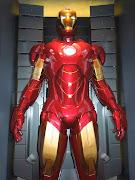 Iron Man Mark IV suit on display.