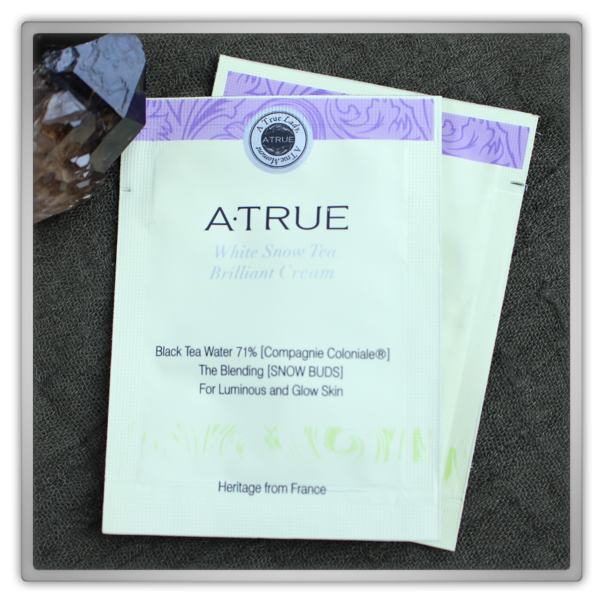 A·TRUE (에이트루) Korean Cosmetics Haul & Review White Snow Tea Brilliant Aurora Cream