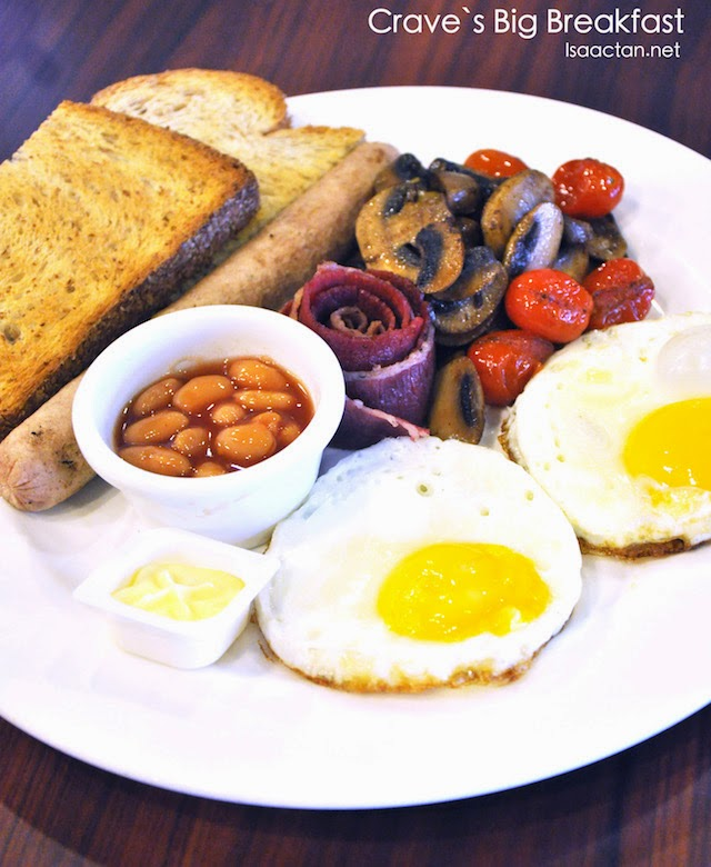 Crave's Big Breakfast - RM22