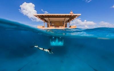 manta resort underwater hotel room, tanzania