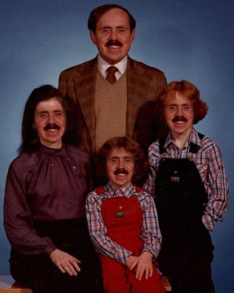 Família de bigode
