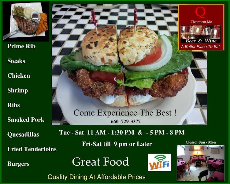 The Q Restaurant (Official Website) Maryville,Mo & Clarinda,Ia
