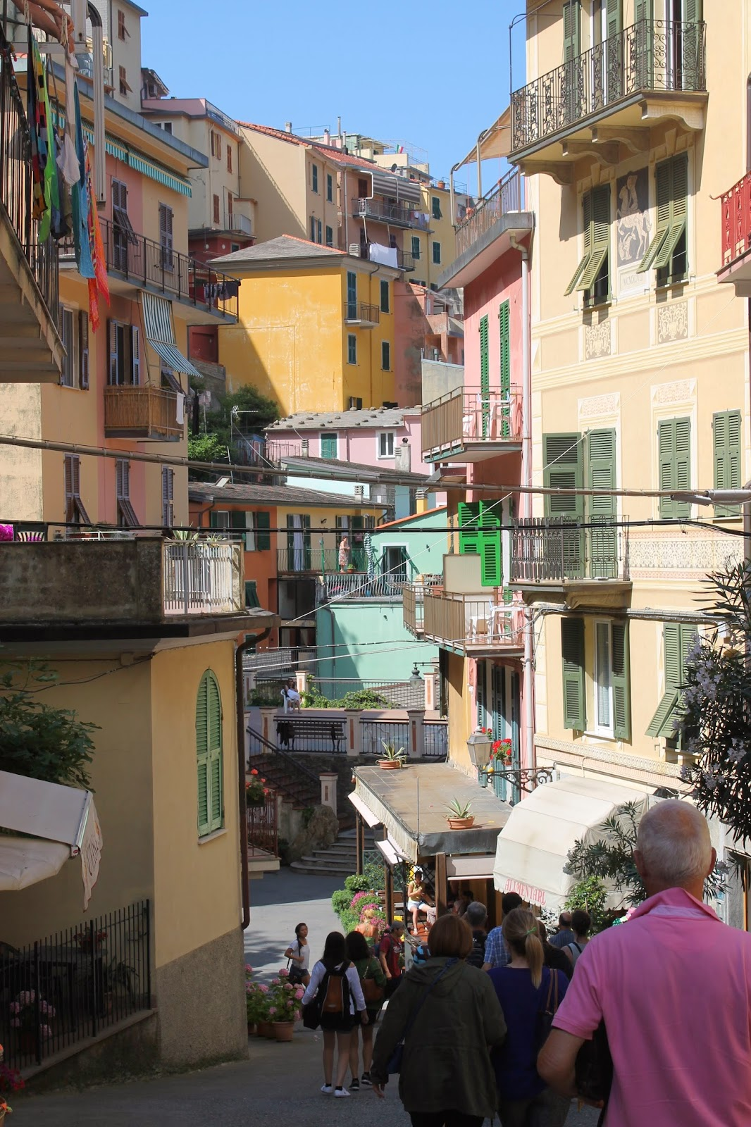 main street, Manarola, Cinqe Terre, Italy