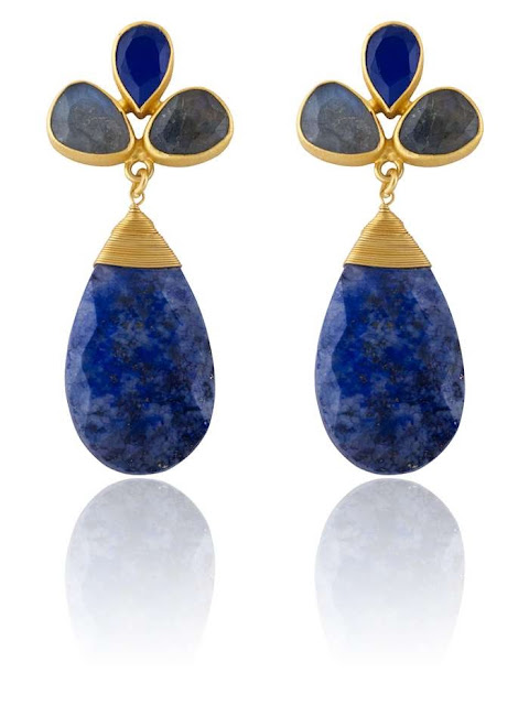 blue jewelry blue earrings, Luxuria Jewelry