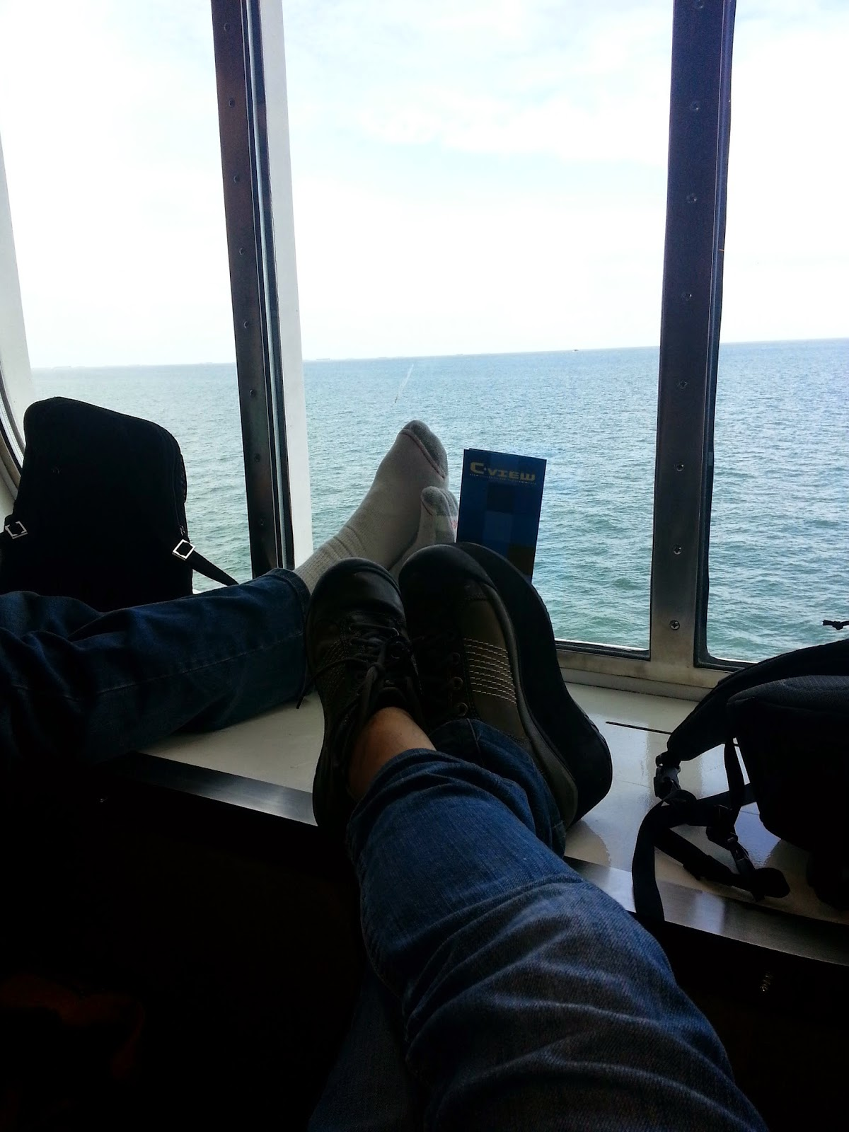 Riding the ferry from Hoek van Holland