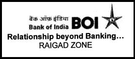 Bank of India (BOI) Raigad Zone Latest Sub Staff Cedre (Sepoy) Recruitment 2014