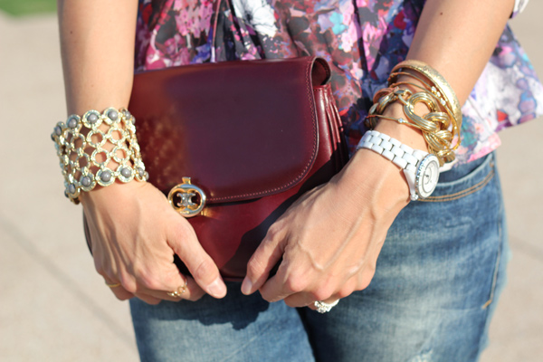 style of sam, lana del ray collection, H&M peplum, Zara distressed jeans, YSL platform peeptoes, vintage Celine bag
