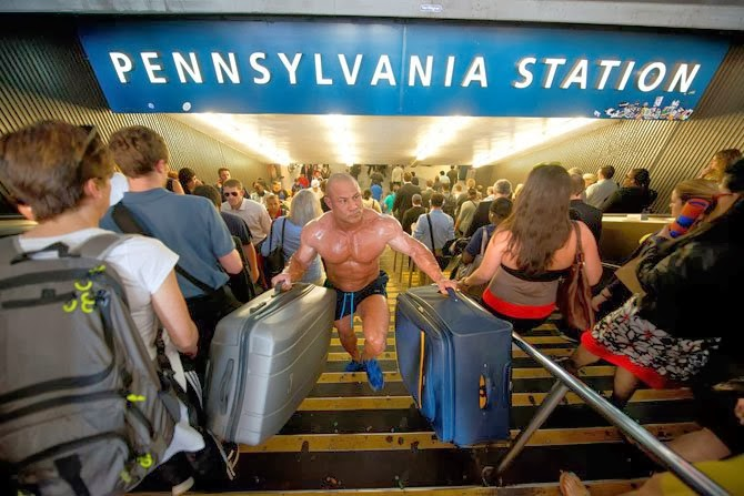 Bodybuilder on a Business Trip