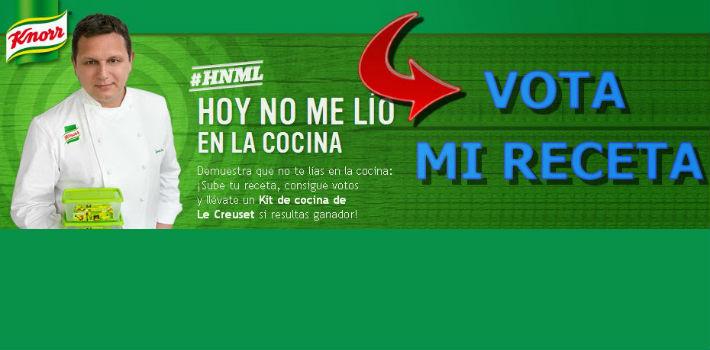 Vota mi receta en el concurso de Knorr