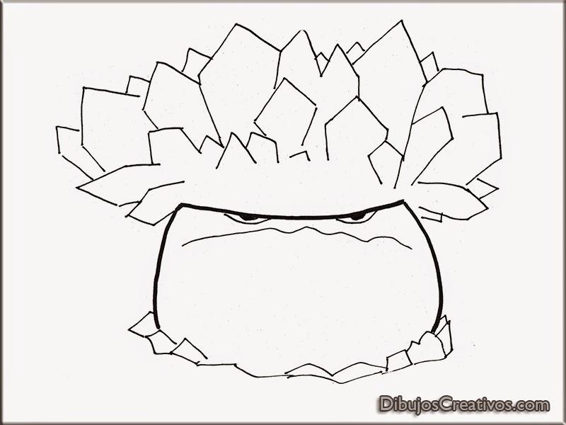 Dibujos de Seta Congelada Plantas VS Zombies para colorear ...