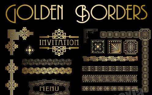 Bordes dorados para diplomas e invitaciones ~ Recursos Webblog
