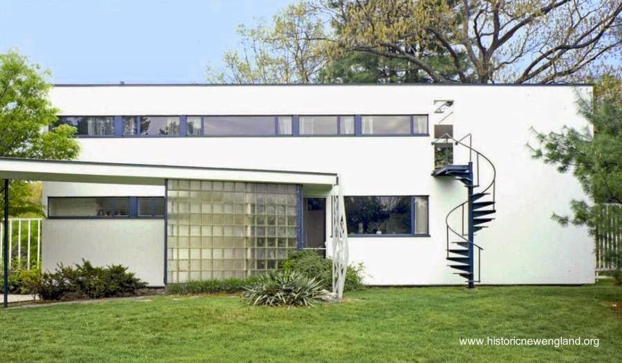 Residencia moderna estilo Internacional Gropius House 1938 en Lincoln, Massachusetts, Estados Unidos