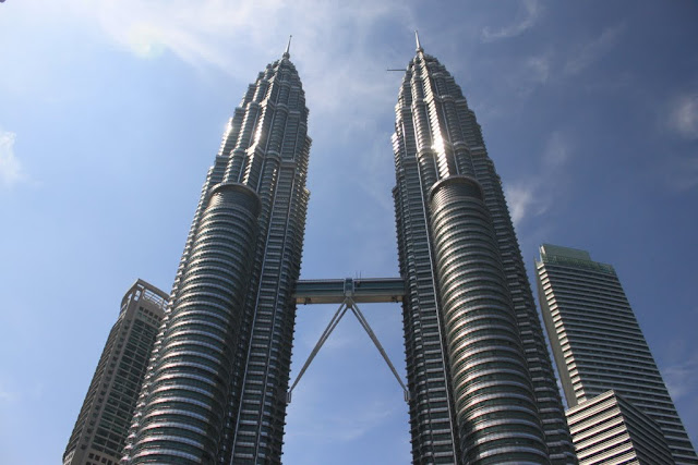 The world's famous tall building, the Twin Towers in Kuala Lumpur, Malaysia