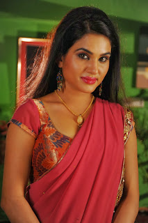 Actress Kavya Singh Latest Pictures in Red Saree 0001