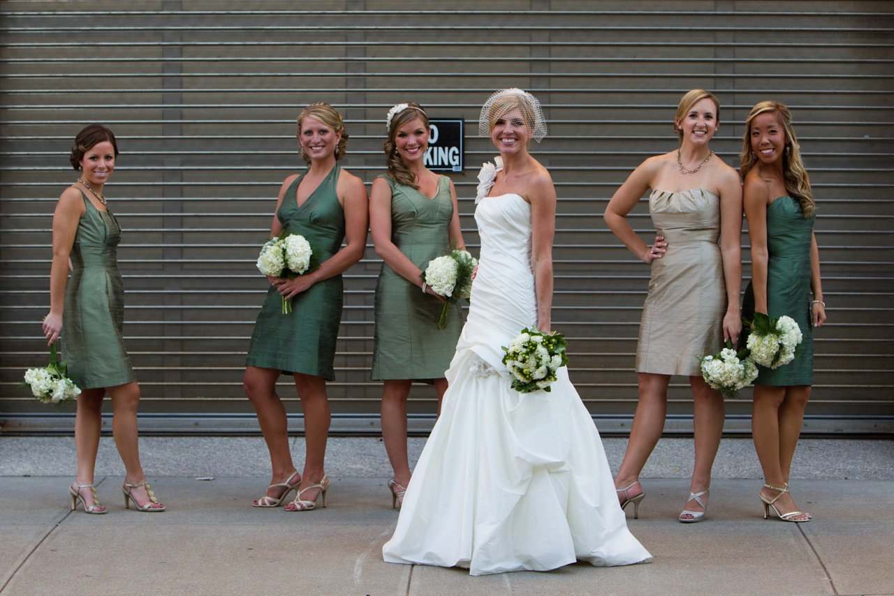 Things we love different colored bridesmaids dresses flair things we love different colored bridesmaids dresses ombrellifo Image collections
