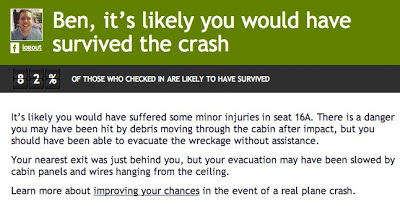 The Plane Crash - survival notification